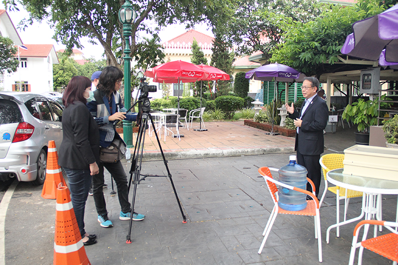 APCD Executive Director, Mr. Piroon Laismit, was interviewed about Universal Design (UD) to accommodate persons with various disabilities as well as elderly persons in line with the Disability-Inclusive Business Approach