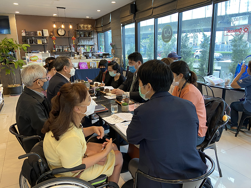 "The gathering updated APCD activities and followed up outcomes of Disability-Inclusive Business Project: Modeling Accessible Work Environment for Thai Persons with Disabilities"" that was granted by the GGP Scheme in 2015."