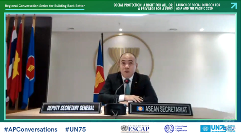 H.E. Kung Phoak, Deputy Secretary-General of ASEAN for ASEAN Socio-Cultural Community talked about ASEAN Enabling Masterplan 2025 during this Webinar.