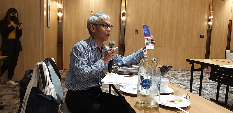 Sharing inputs by Mr. Somchai Rungsilp, APCD's Community Development Manager and show-cased a study of regional implementations in line with international instruments on disability development.