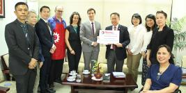 A donation from TOTAL Oil (Thailand) Co. Ltd., to APCD on 2 December 2020, at APCD, Bangkok, Thailand