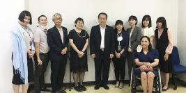 Group photo of representatives from TICA, JICA Thailand Office and APCD
