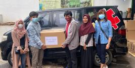 ASEAN Autism Network (AAN) by Yayasan Autisma Indonesia (YAI) and AAN Secretariat facilitated mask donations from AHA Centre, Jakarta, Indonesia on 10 March 2021