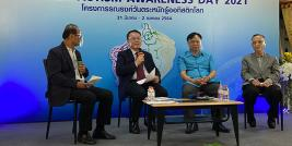 Panel discussion to exchange current situation on autism in ASEAN region with attending audience of parents of persons with autism and live on-air at Association channel